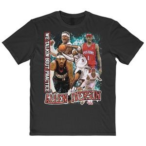 Vintage Style Allen Iverson 90s Basketball Tee